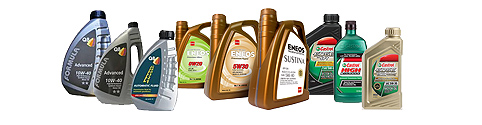 Engine oils, lubricants, greases